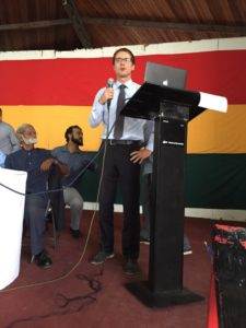 Stanislav A Shamayev delivers speech in Guyana on cannabis