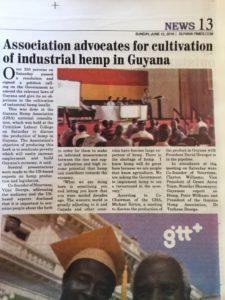 Stanislav A Shamayev in the Guyanese newspaper; cannabis